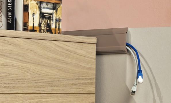 Plintele pot fi folosite pentru a ascunde cablurile nedorite.