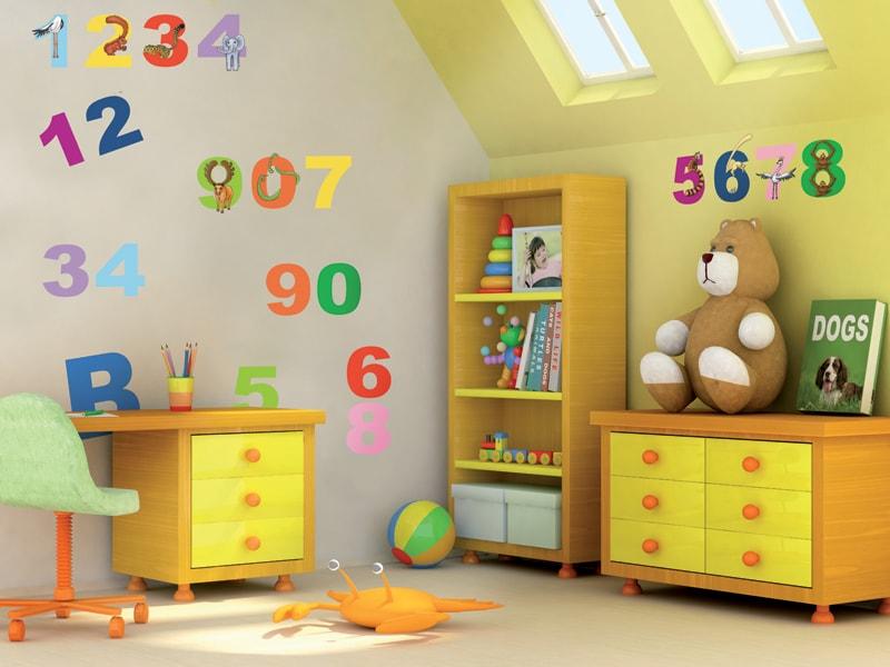 Stickere cu cifre pentru camera copii