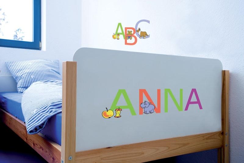 Stickere cu litere pentru camera copii