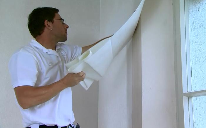 montare tapet fibra de sticla